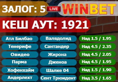 Играч Спечели 1.9к със залог от 5лв. в WINBET