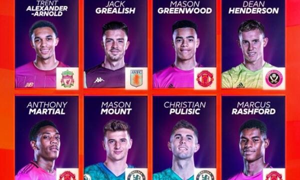 Номинираните за най-добър млад футболист в Премиър лийг бяха обявени
