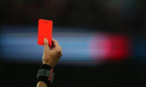 Червен картон при кашляне на терена?